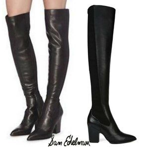 SAM EDELMAN Over the Knee Boot Pointed Toe Stretch